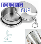 Stainless Steel Folding Cup - Off Grid Living for Beginners