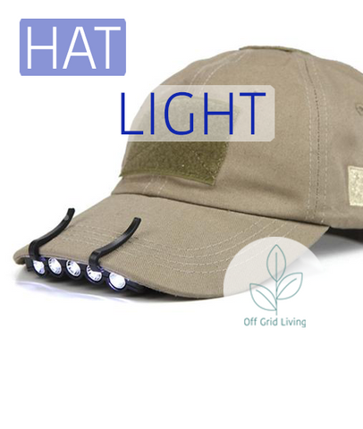Clip-on Visor LED Light - 2 pieces - Off Grid Living for Beginners