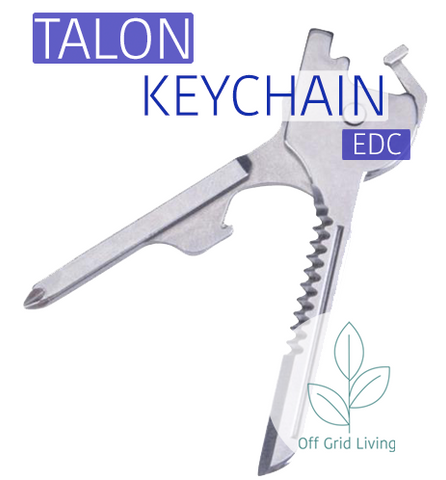 The Talon 6 in 1 EDC Multi Tool Keychain - Off Grid Living for Beginners