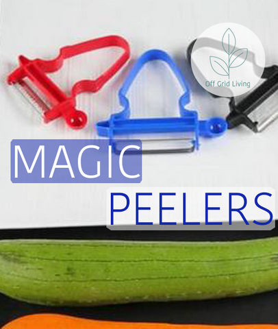 Magic Trio Peeler - 3 Pieces - Off Grid Living for Beginners