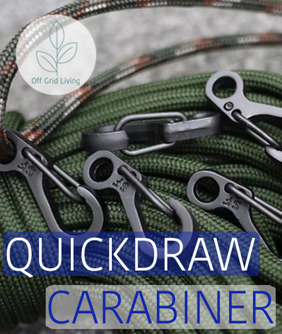 Aluminium Quickdraw Carabiner - 10 pieces - Off Grid Living for Beginners