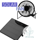 Solar Panel with Portable Fan - USB - Off Grid Living for Beginners