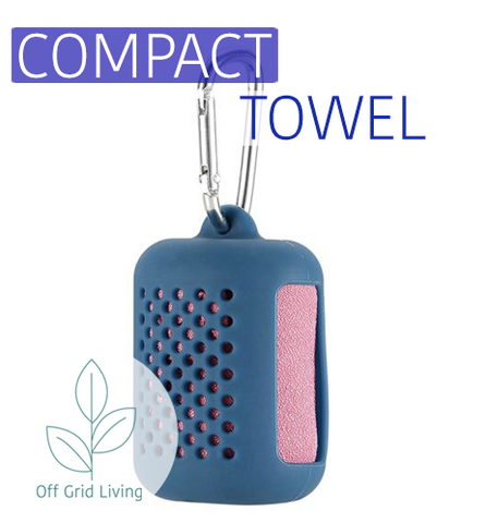 Quick Drying Compact Towel - Camping or Hiking - Off Grid Living for Beginners