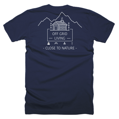 Off Grid Living T-Shirt Large Logo - Off Grid Living for Beginners