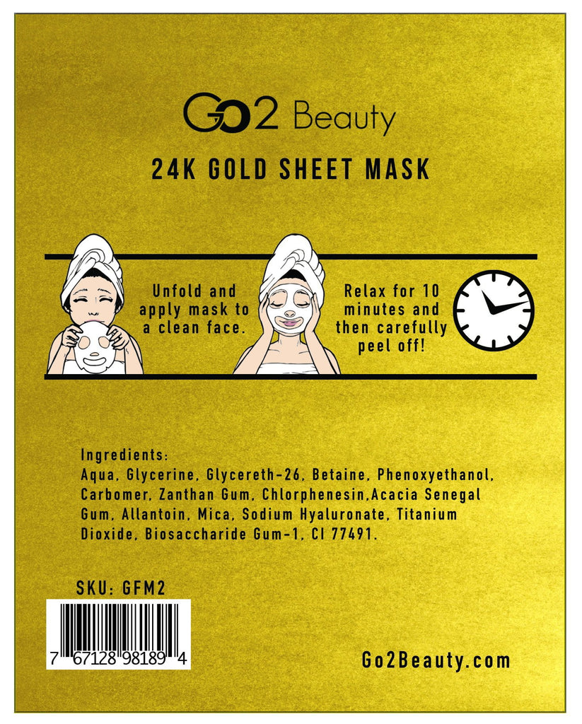 24K Gold Sheet Mask - 1