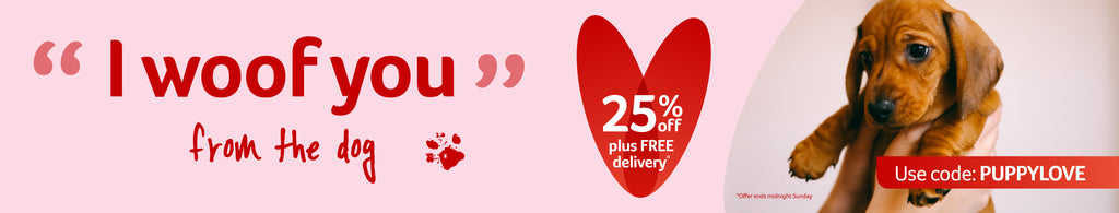 "25% off for Valentines day ""I woof you"""