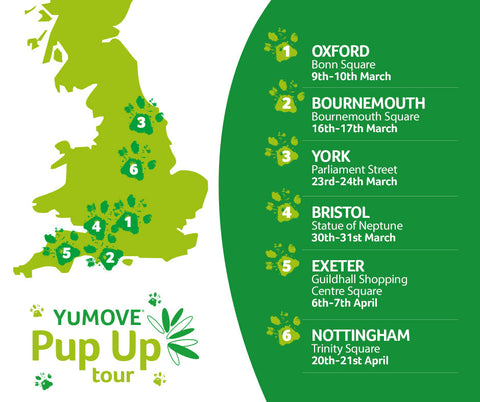 Map of Pup up tour