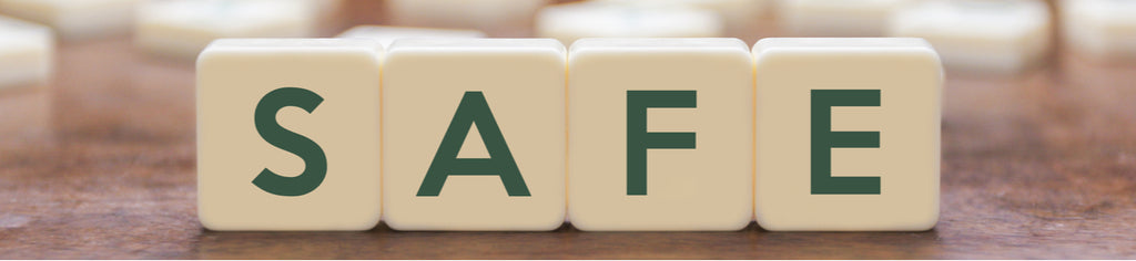 Safe written in scrabble letters