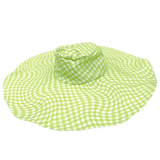 SUMMER BRIM HAT - MOD GINGHAM IN SOFT LIME
