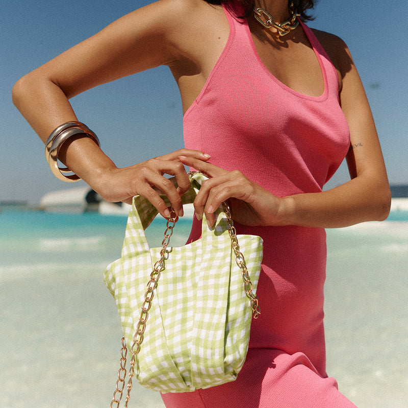 MINI BAG - MOD GINGHAM IN SOFT LIME