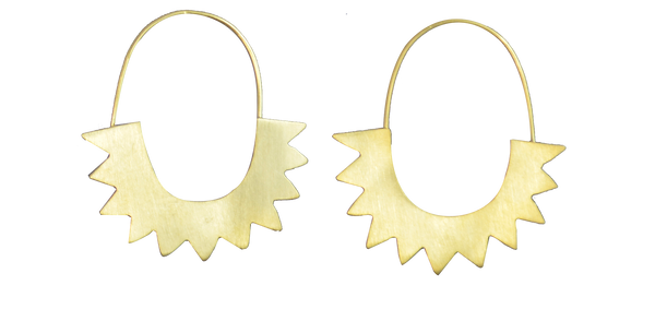 Jagged Hoop 24ct Gold Plated