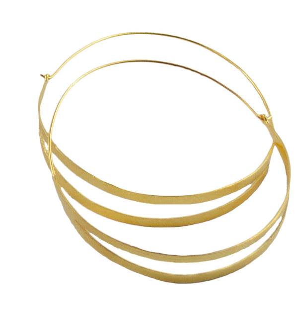 Split Hoop 24ct Gold Plated