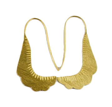 Scallop Drop 24ct Gold Plated