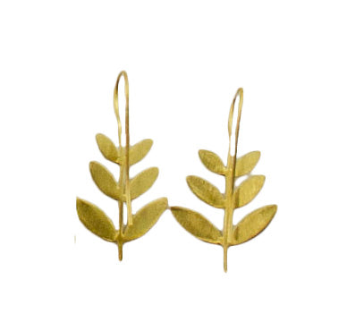 Leaf Drop 24ct Gold Plated