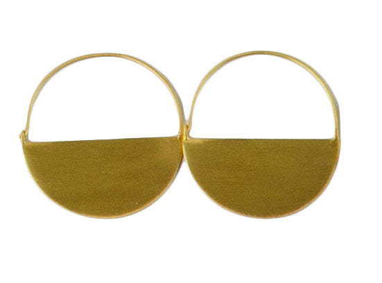 Half Moon Hoop 24ct Gold Plated