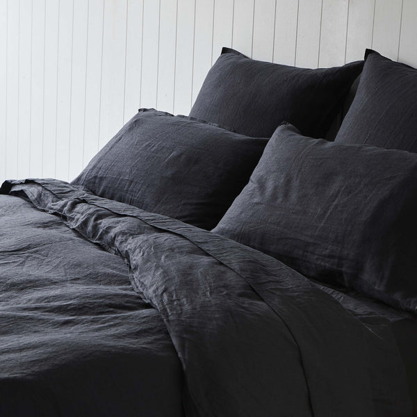 Darkest Hour 100% French Linen Quilt Cover