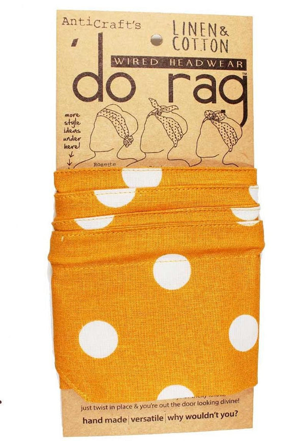 Do Rag Dots Spots Ochre + White