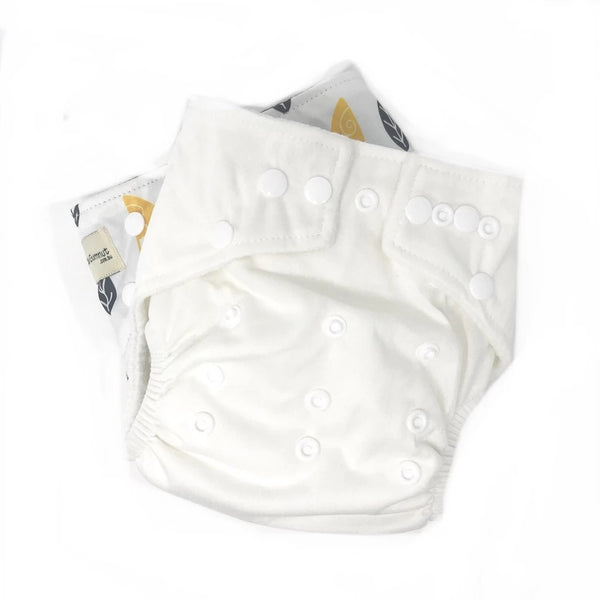 Modern Cloth Nappy - Classic White