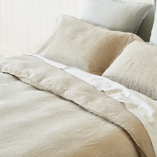 Natural 100% French Linen Quilt Cover