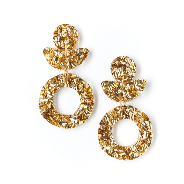 Dune Flower Earrings - Gold Dust