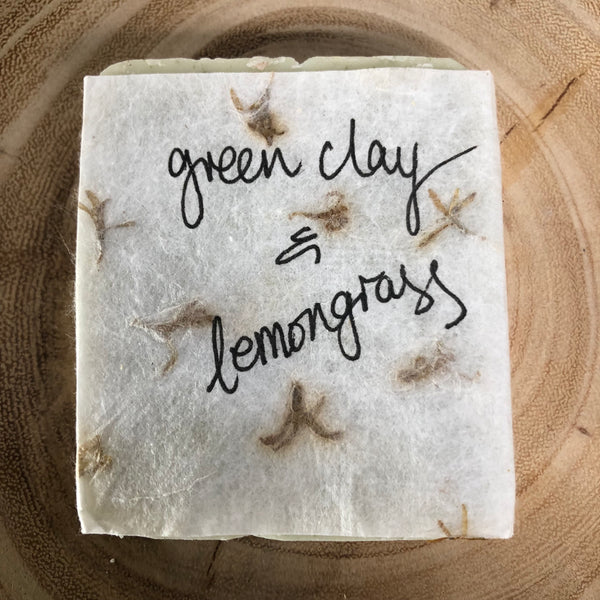 Handmade Soap - Green Clay & Lemongrass