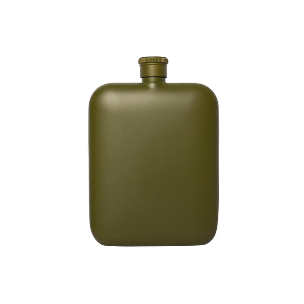 Flask + Canvas Carrier - Army Green