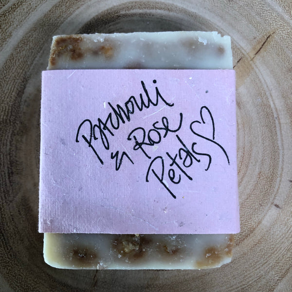 Handmade Soap - Patchouli & Rose Petals
