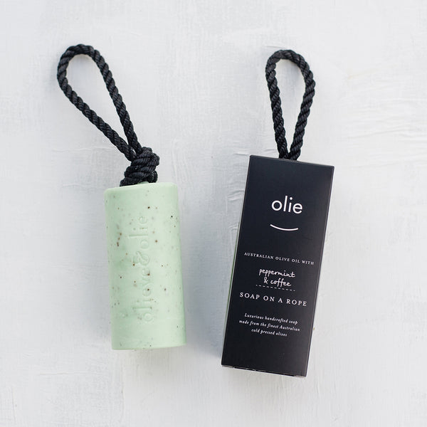 Soap On A Rope - Peppermint | Coffee