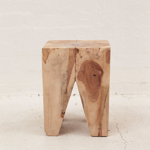 Rafi Timber Peg Stool / Side Table