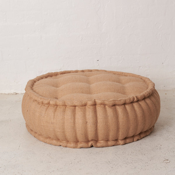 Samir Floor Cushion - Round Mustard