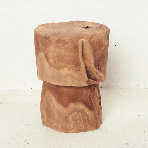 Maia Bulb Tree Stump Stool / Side Table