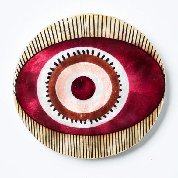 Mata Eye Maroon - Wall Hanging