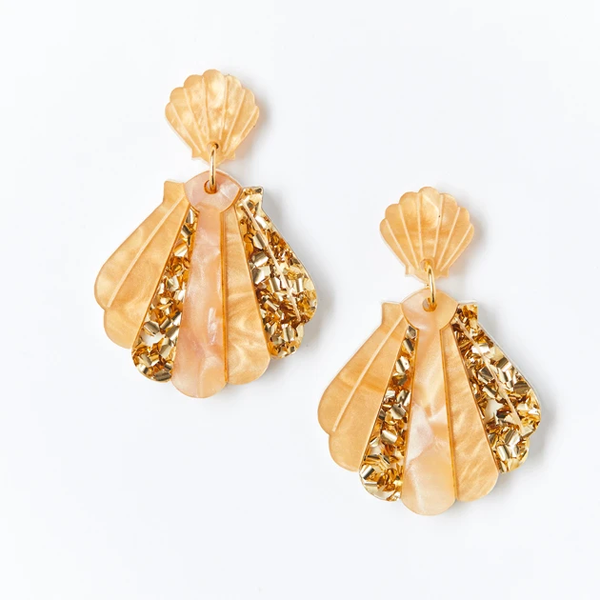 Shell Earrings - Oyster