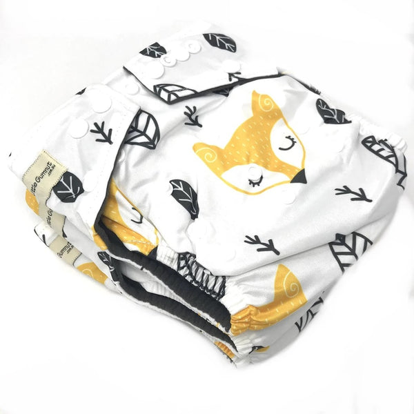 Modern Cloth Night Time Nappy - Sleepy Fox