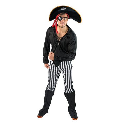 Bodysocks - Black Pirate Costume