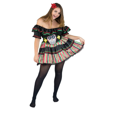 Bodysocks - Women's Day of the Dead Costume