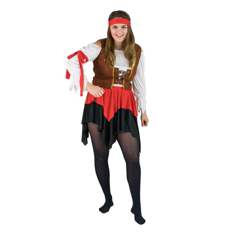 Bodysocks - Women's Buccaneer Pirate Costume