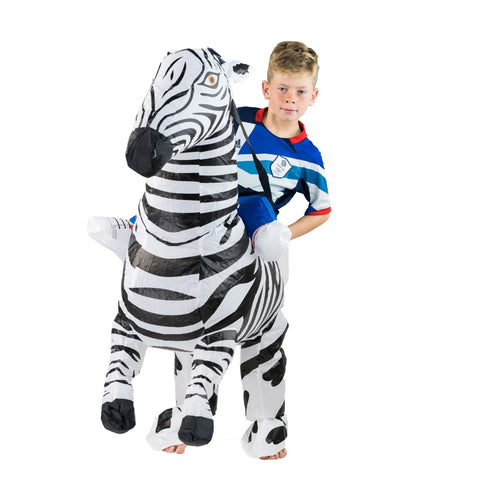 Bodysocks - Kids Inflatable Zebra Costume