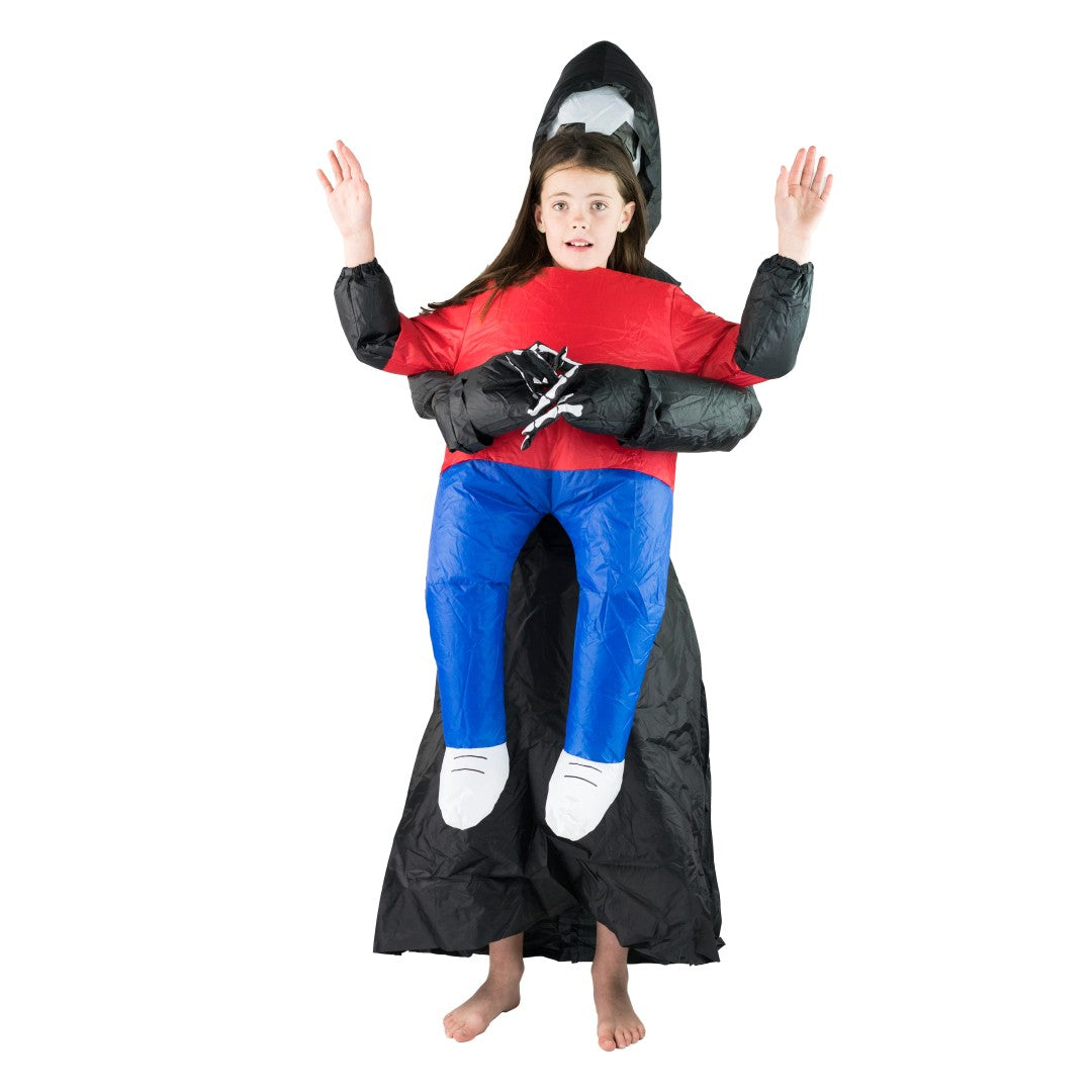 Bodysocks - Kids Inflatable Lift You Up Grim Reaper Costume