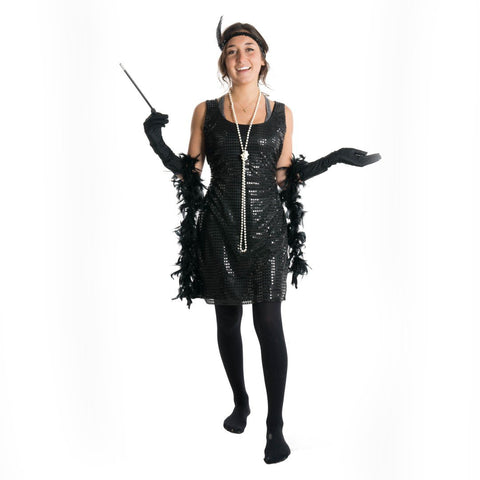 Bodysocks - Women's Flapper Girl Costume