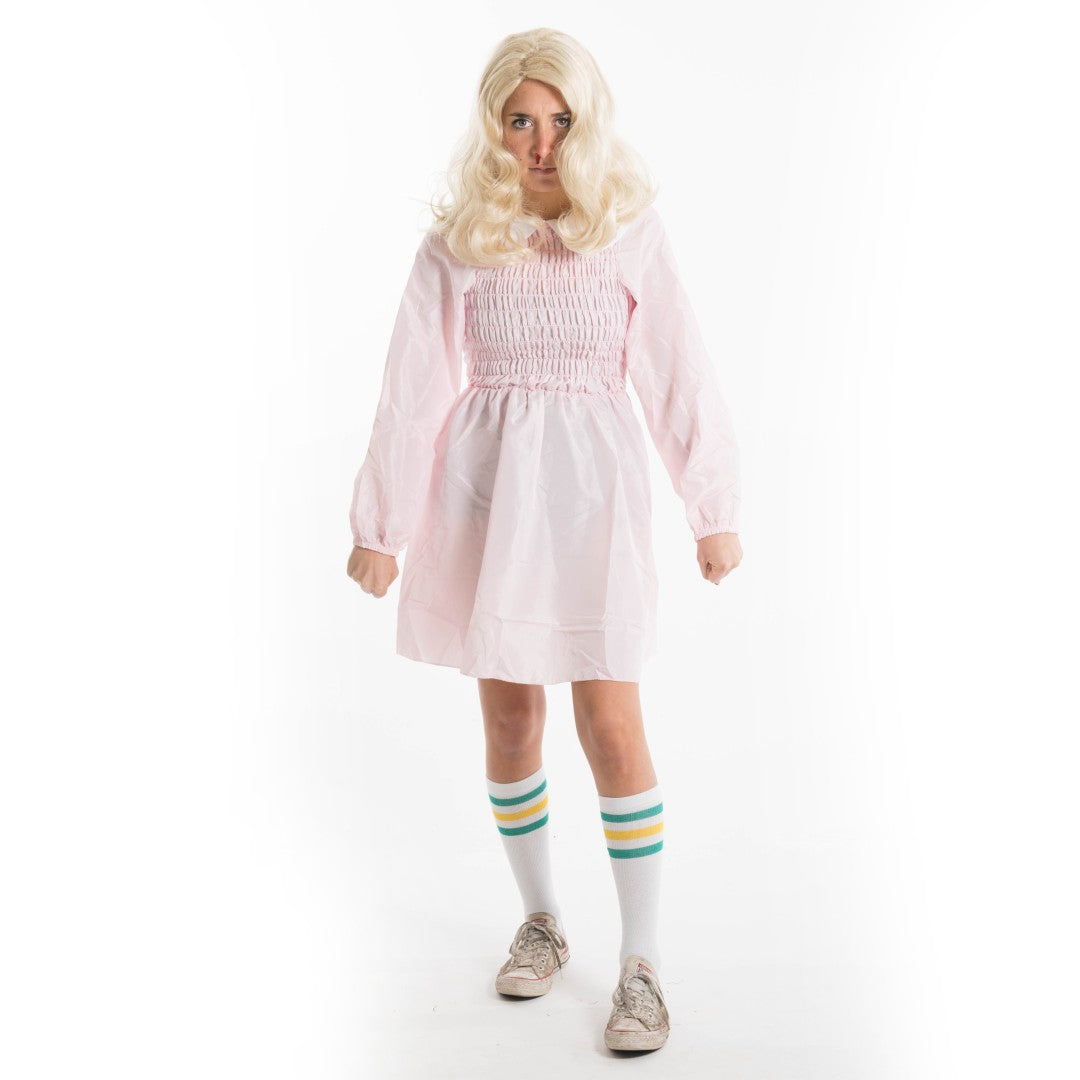 Bodysocks - Eleven Pink Dress Stranger Costume
