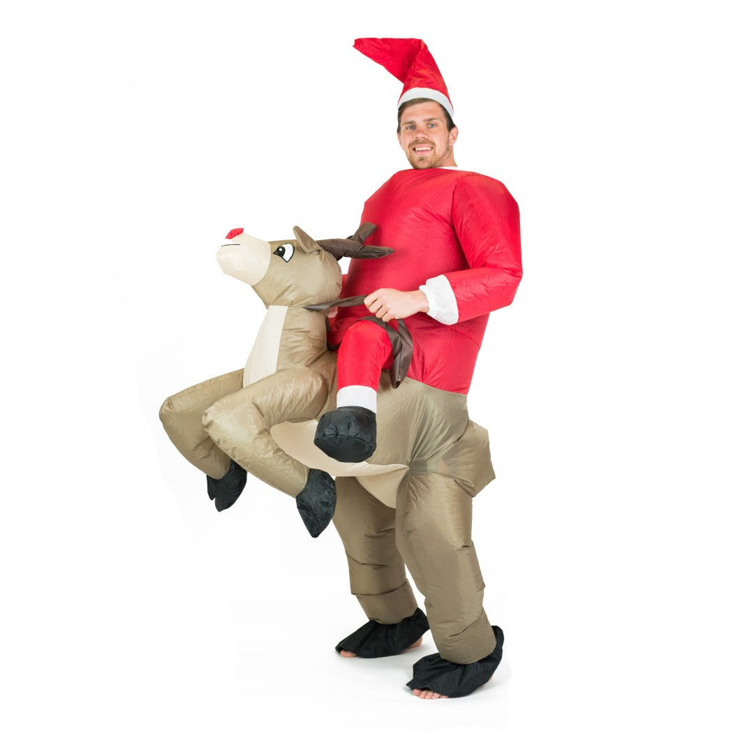 Bodysocks - Adults Inflatable Reindeer Costume