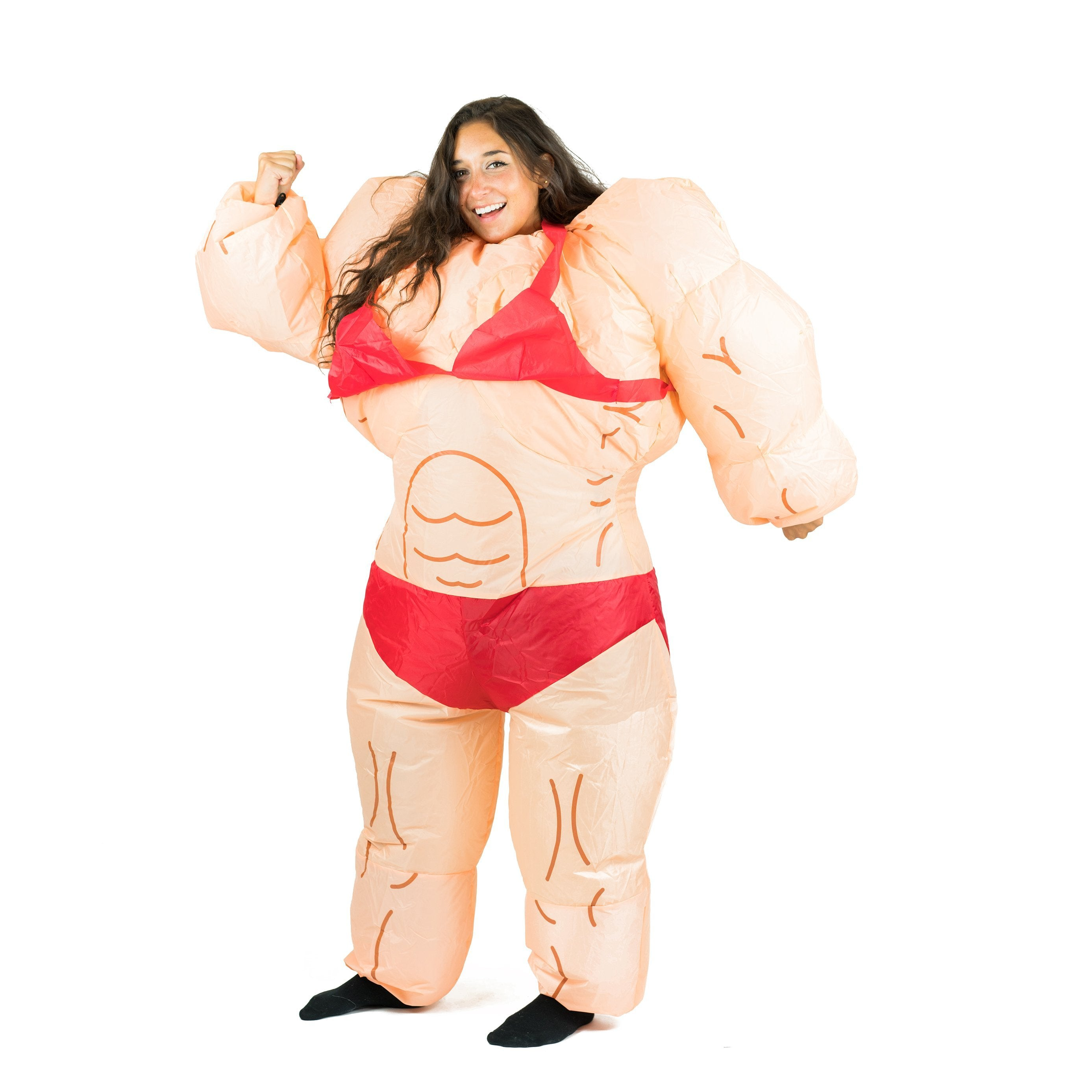 Bodysocks - Inflatable Lady Muscle Suit Costume