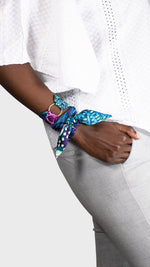 Twilly Twirly Wanderland Wonderland African Artist how to wrist arm ring Blue African Aureum