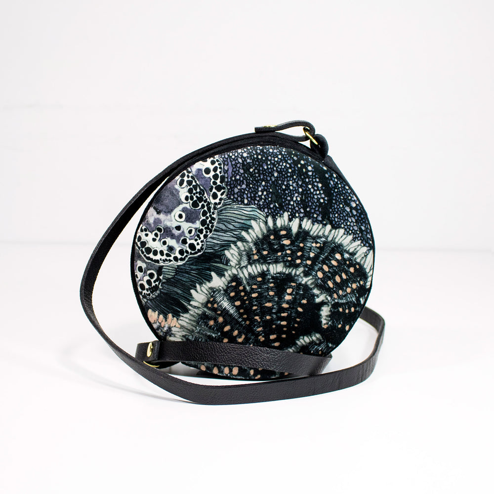 Oceanum Urchin Embroidered Velvet Circle Bag