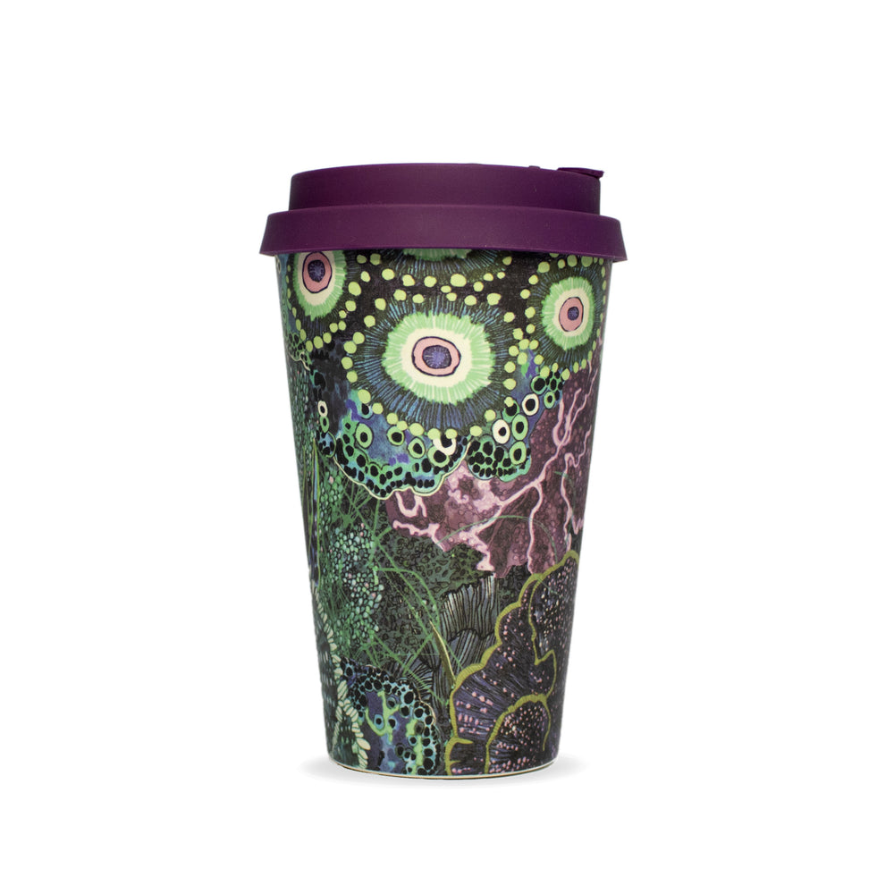 Reusable bamboo ecoffee travel cup wanderland aureum africa environment