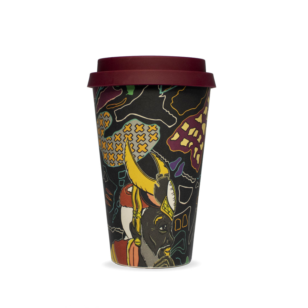 Reusable bamboo ecoffee travel cup wanderland zhi zulu africa environment