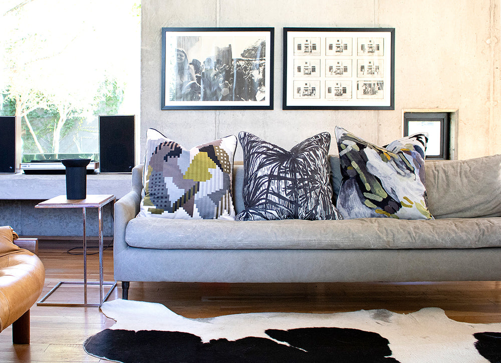 Aureum Highveld Graphite Velvet Scatter Cushion