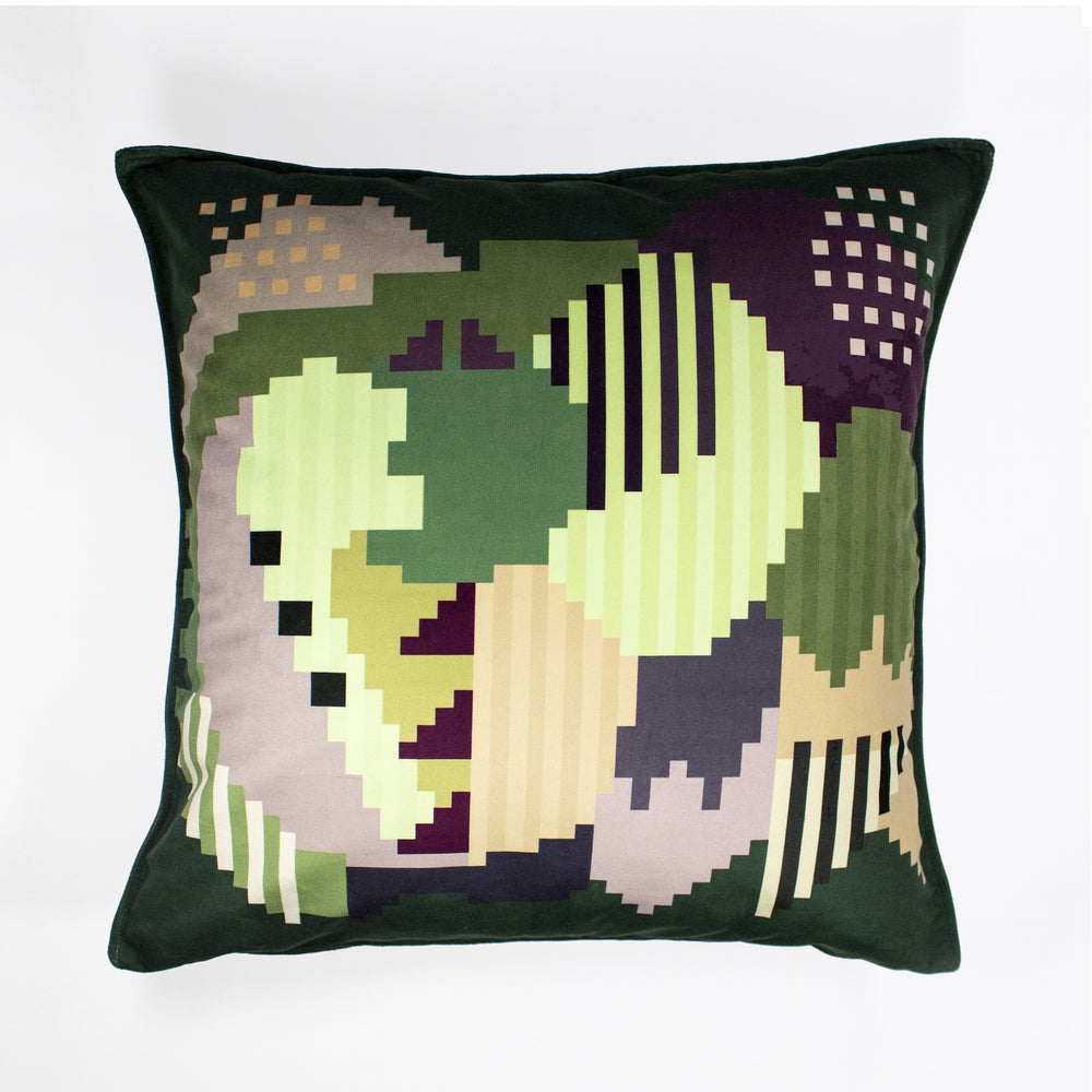 Mrs + Mr Luke Plum Forest Velvet Scatter Cushion