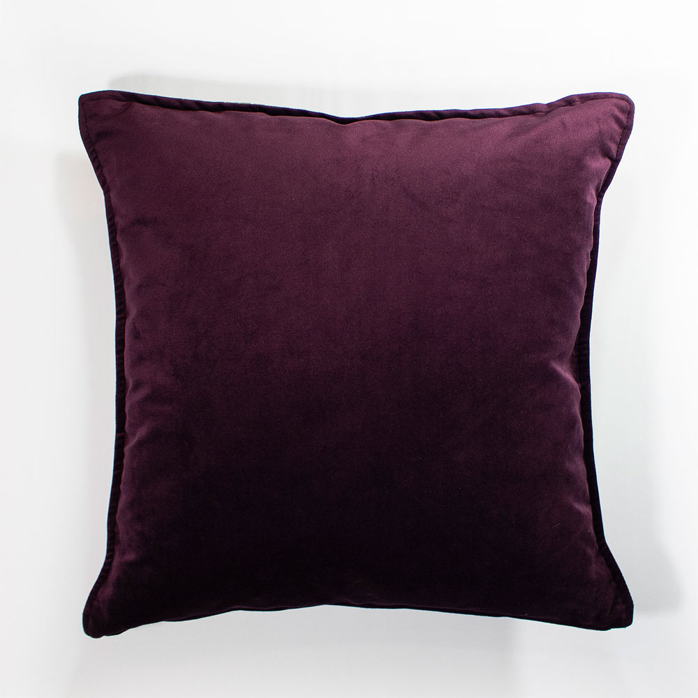 Zhi Zulu Leopard Gold/Plum Velvet Scatter Cushion